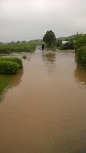 Hochwasser nach Starkregenereignis