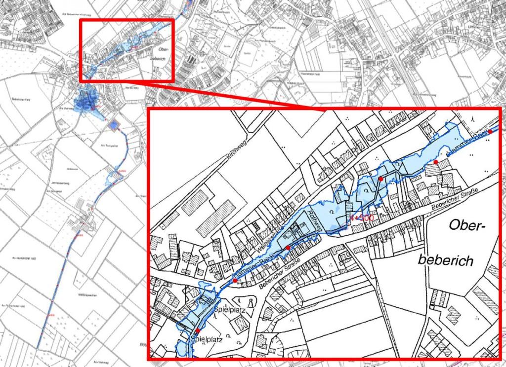 Kartenausschnitt Überschwemmunggebiet