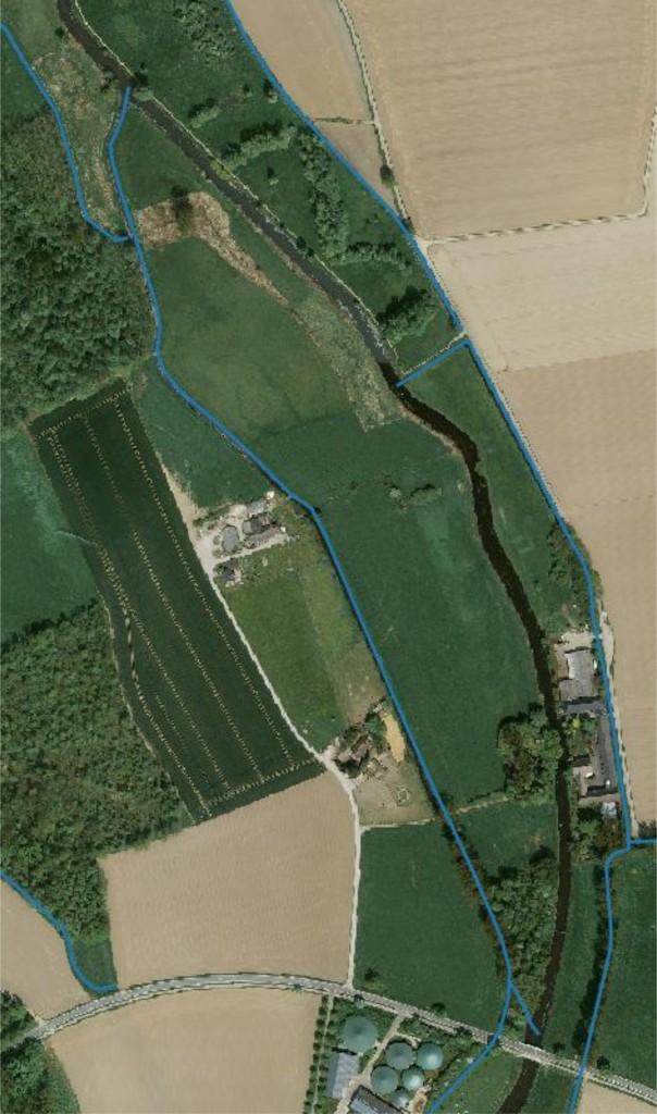 """Luftbild """"Insel"""" an der Neersdommer Mühle"""