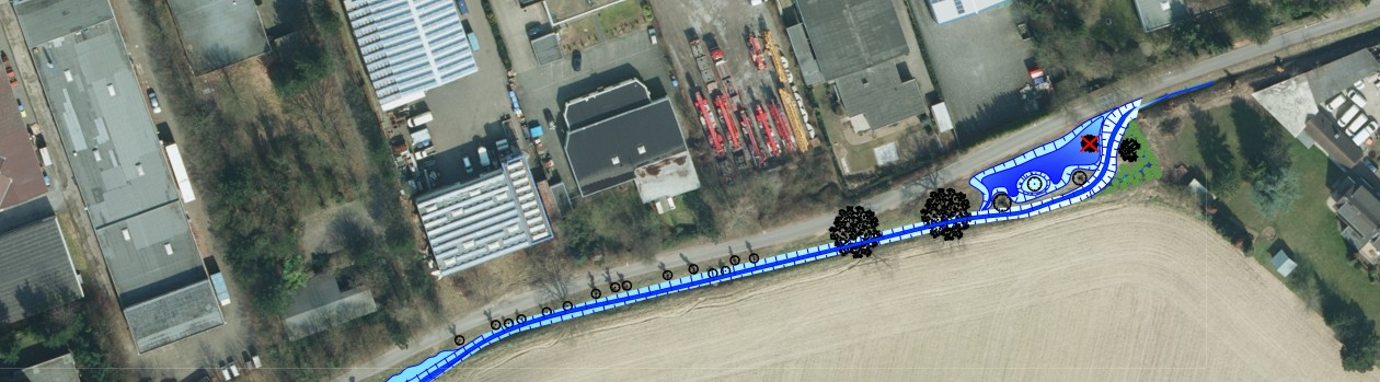 13.04.2018: 1. Spatenstich für die Gewässerausbau am Münchheider Graben