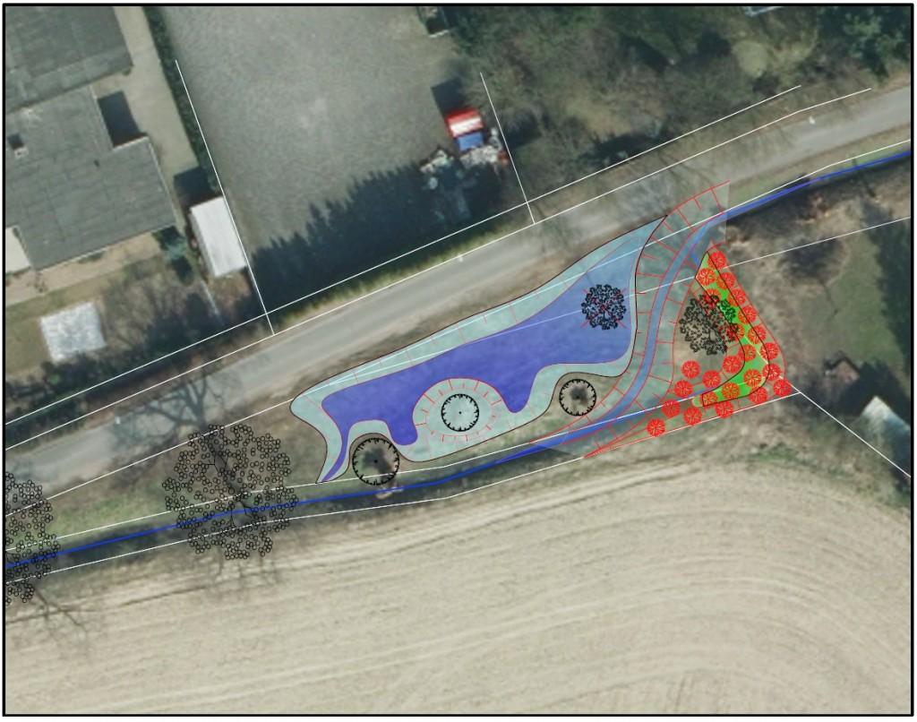 geplanter Retentionsraum unterhalb der S-Kurve