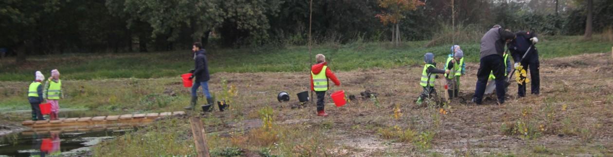 29.10.2018: Die Bepflanzung der Cloer hat mit tatkräftiger Hilfe begonnen